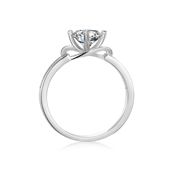 BOEYCJR 925 Silver Heart 0.5/1ct F color Moissanite VVS1 Elegant  Engagement Wedding Ring With certificate for Women Gift 2