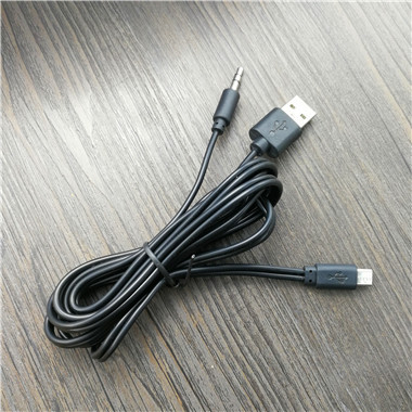 2in1 Cable - Micro USB To USB & 3.5mm Aux Standard Audio Jack Connection Cable - Compatible With Many Speakers, Mp3 Player