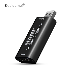 kebidumei Video Capture Card USB 2.0 HDMI Video Grabber Record Box For PS4 Game DVD Camcorder HD Camera Recording Live Streaming