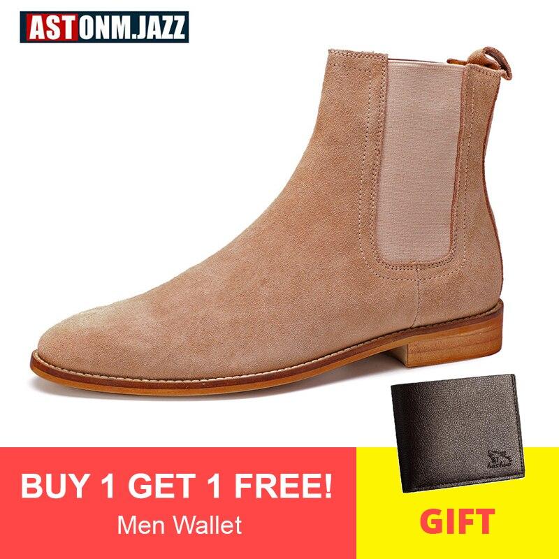 Men's Boots Casual Men Shoes Winter Mid
