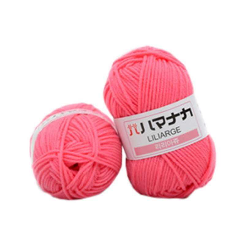 25g/bola colorido suave bebé leche algodón hilo fibra terciopelo lana para crochet para tejer a mano DIY suéter manta bufanda