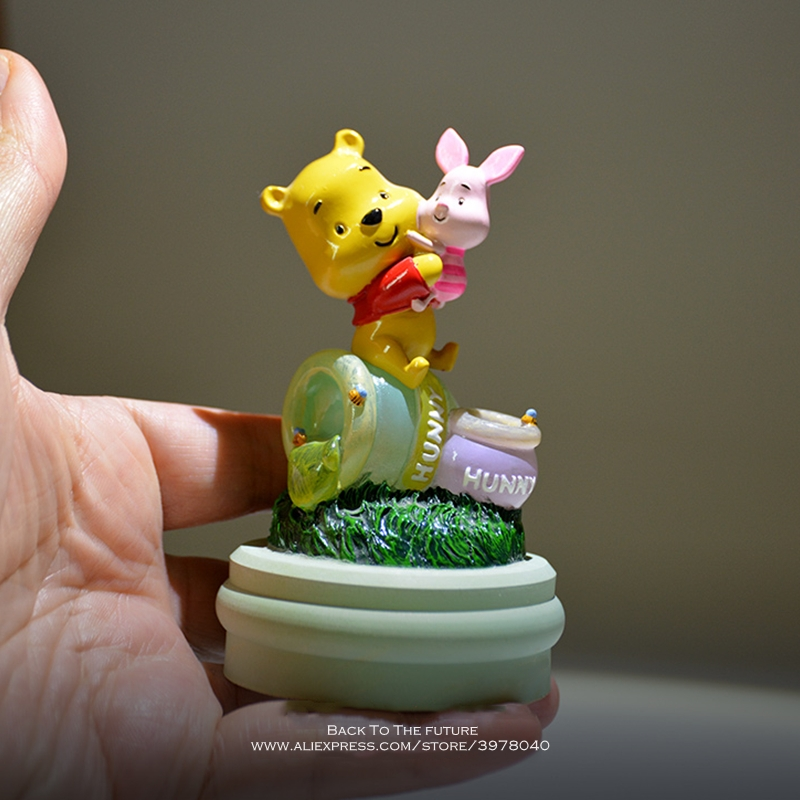 Disney Winnie The Pooh 10cm Action Figure Anime Decoration Collection Figurine Mini Doll Kid Toy Model For Children Gift