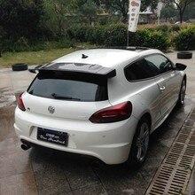 Scirocco VOTEX estilo Fibra De Carbono Traseiro telhado Lábio Asa saqueador Para VW Volkswagen Scirocco 2010 ~ 2014 (não para R)