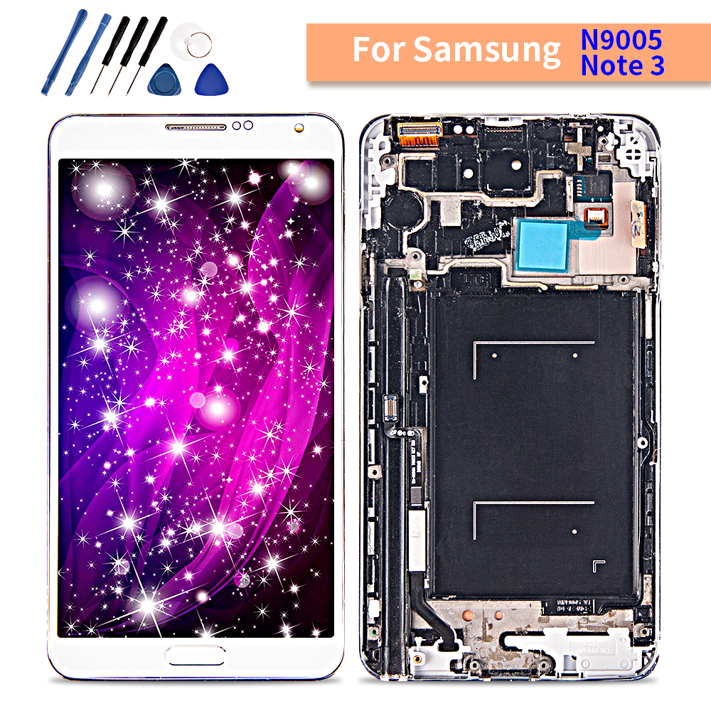 Amoled For Samsung Galaxy Note 3 LCD Display Touch Screen with frame Digitizer Assembly For samsung note3 N9005 lcd Replaceme-in Mobile Phone LCD Screens from Cellphones & Telecommunications
