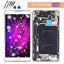 Amoled samsung Galaxy Not 3 dokunmatik lcd ekran ekran Çerçeve ile samsung için dijitalleştirici montajı note3 N9005 lcd Replaceme