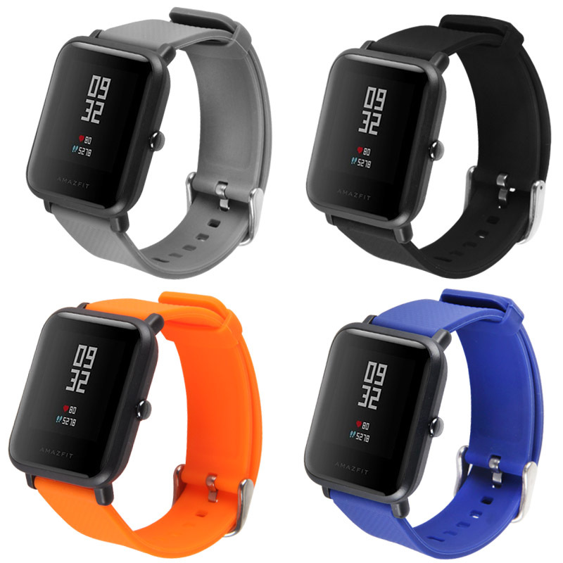 Applicable China M Amazfit2 Youth Watch 2 Silica Gel TPU Double Color Steel Belt Charger Base