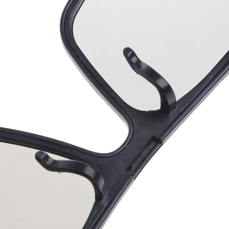 Gafas 3D polarizadas pasivas tipo Clip-On para TV Real 3D Cinema 0,22mm