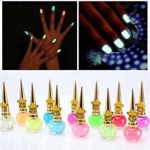 Nail-Polish Neon Glow-In-Dark Non-Toxic 12-Colors Children for 14ML Luminous-Gel Fluorescent