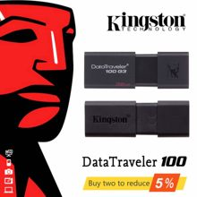 Kingston – clé USB 3.0 vitesses DT100G3, support à mémoire de 16GB 32GB 64 GB 32GB 64 GB, lecteur Flash Original