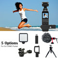 5 Options Kits Extension Mount Microphone 3.5mm Mic Adapter Mini Desk Tripod Pt 3 Gimbal Mount For DJI OSMO Pocket Accessories|Gimbal Accessories|   -