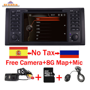 Original UI 1 Din Car DVD Player For BMW X5 E39 GPS Bluetooth Radio USB SD Steering Wheel Control Camera Map