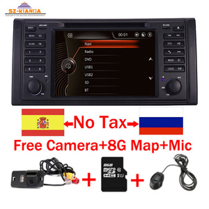 Original UI 1 din Car DVD player for BMW X5 E39 GPS Bluetooth Radio USB SD Steering wheel Control Camera map