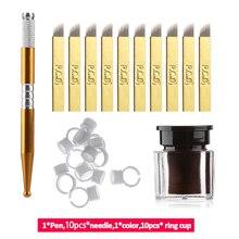 Pigment-Rings Blade-Pen Makeup-Tool Eyebrow-Tattoo-Kit Microblading-Needle Practice-Tattoo