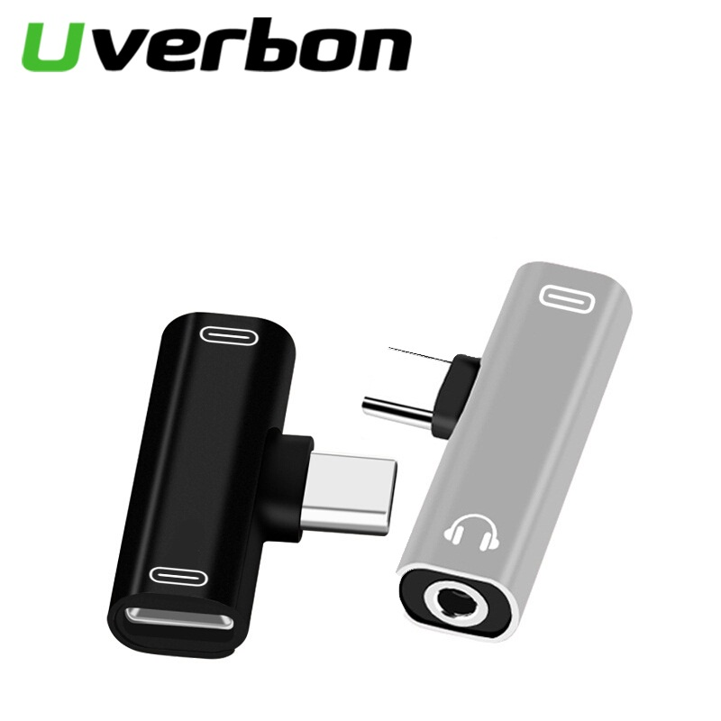 2 In 1 Type C To 3.5mm Jack Earphone Charging Converter USB Type-C Audio Adapter for Xiaomi 6 Huawei P10 Mate 20 Type C Phones(China)