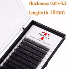 TDANCE extensiones de pestañas postizas suaves, 16 18mm, herramientas de maquillaje generosas y hermosas, de buena calidad