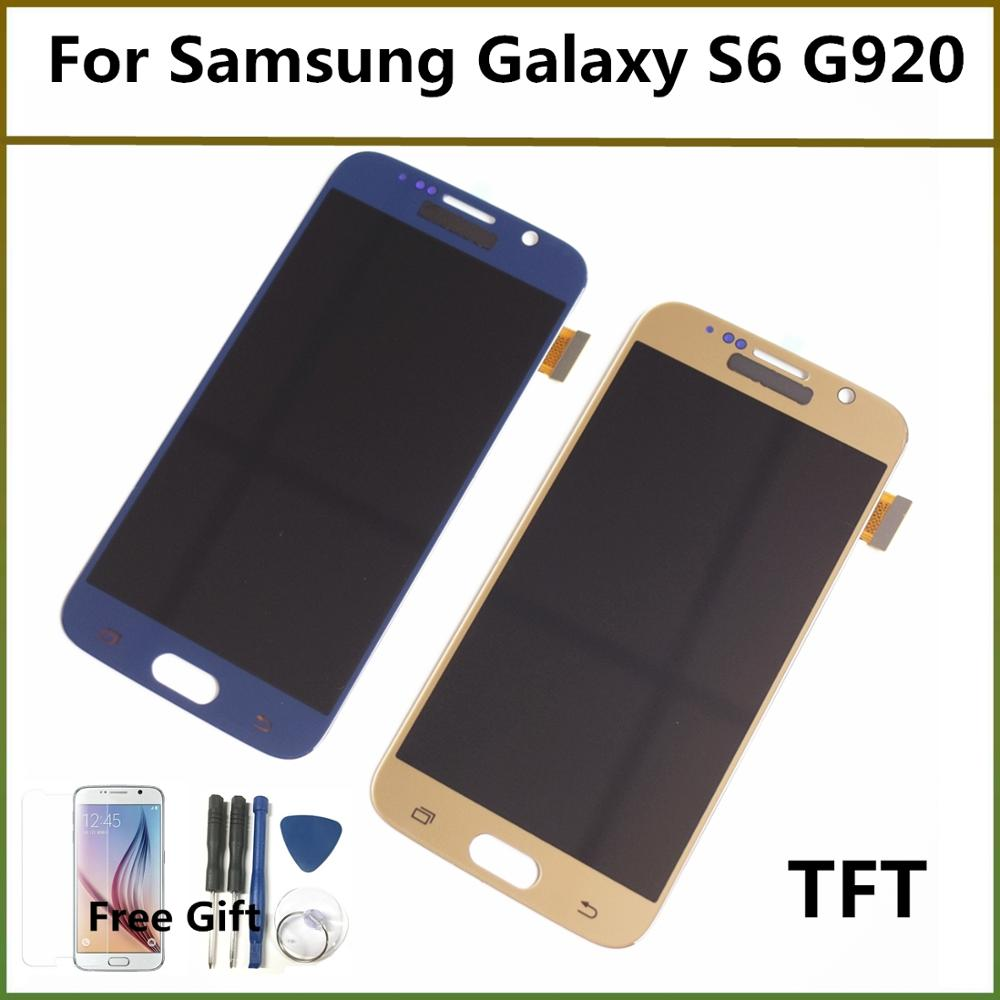 5.1'' TFT No Dead Pixel LCD For G920F LCD Display Touch Screen Digitizer Assembly For Samsung Galaxy S6 G920A G920P LCD Screen