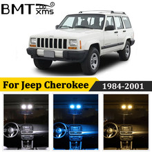 BMTxms 13 Uds Canbus coche LED Interior mapa cúpula luz lámpara de placa de matrícula para Jeep Cherokee SJ XJ KJ KK 1984-2001 accesorios de Auto