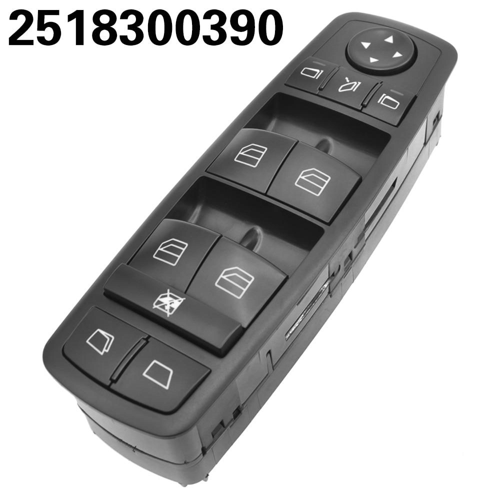 Siyah elektrikli cam ana şalter Benz için ML350 W251 X164 GL450 R300 R320 R350 R500 R550 A2518300390 2518300390