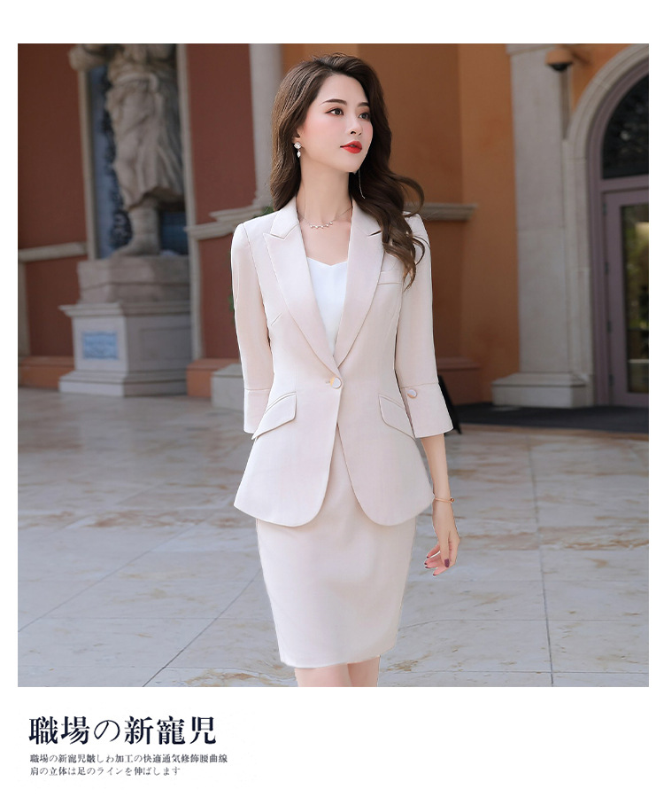 H6983d00a98cf41e59e8d67cbf44f4b1cj - Black Apricot Female Elegant Women's Suit Set Blazer and Trouser Pant Business Uniform Clothing Women Lady Tops and Blouses