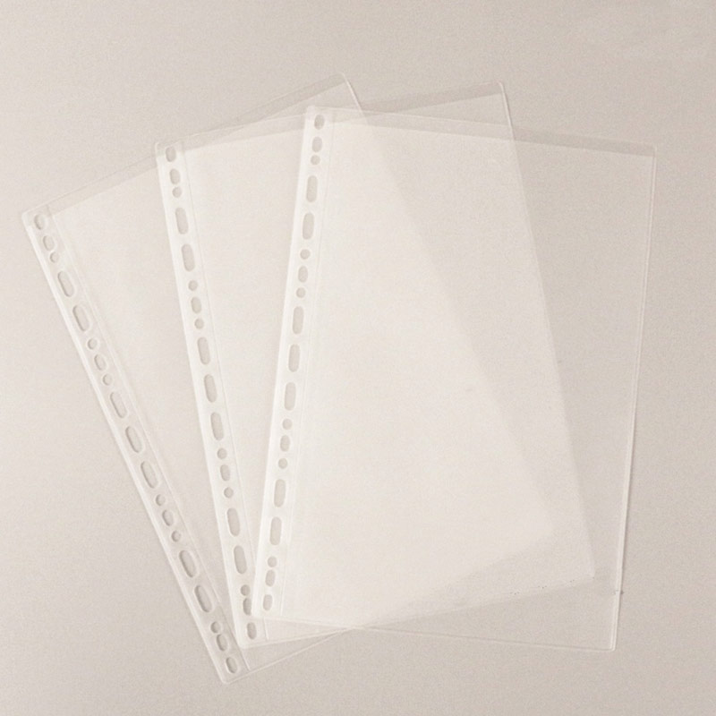10pcs B5 9/26 Hole ClearlyTransparent PVC File Storage Holder Loose Leaf Pouch Holder Pockets Filing Organizer Bags Planner Acce