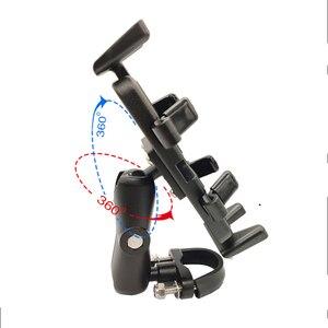 Image 2 - Super Strong Shockproof Handlebar Motorcycle Phone Holder Support Walkie Talkie Holder For GPS Bicycle Phone Holder ADV Holder