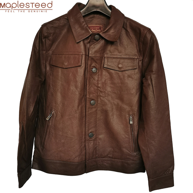 SALE CLEARANCE! RANDOM Color ! Men Leather Jacket 100% Natural Cowhide or Sheepskin Leather Jacket Man Skin Coat Autumn M163
