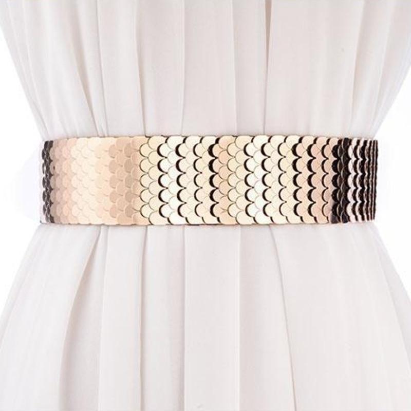 Female Wide Belt New Design Stylish 2020 Spring Belts For Women Trendy Fashion Belt Metal Corset Belt Elastic Waistband ZK475