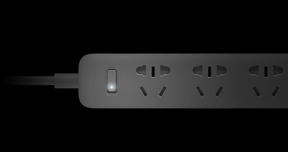 Original Xiaomi Mijia Smart Power Strip 3 2A Fast Charging USB Ports + 3 Sockets Xiaomi Xiaom MI Smart Home Black With Adapter (9)