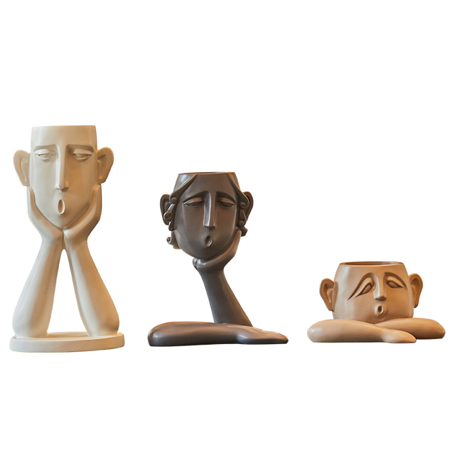 Abstract figure decoration Resin flower pot modern Vase Home Decorations TV cabinet porch living room Craft furnishings 5