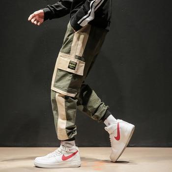 2020 New Hip Hop Joggers Cargo Pants Men Harem Pants Multi-Pocket Ribbons Man Sweatpants Streetwear Casual Mens Pant - Army Green, XXXL