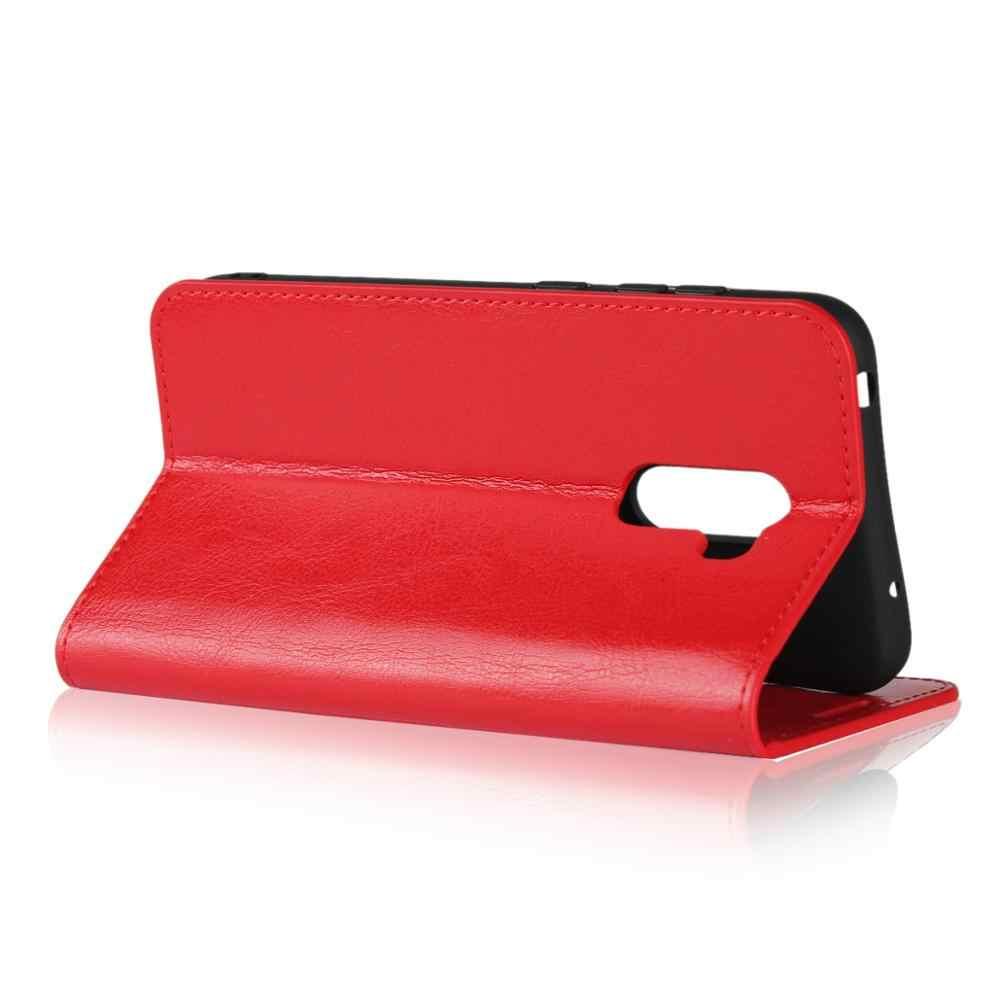 טבעי אמיתי עור עור Flip ארנק ספר טלפון מקרה כיסוי על לxiaomi Pocophone Poco F1 PocoF1 F 1 64/128 GB Xiomi קטן