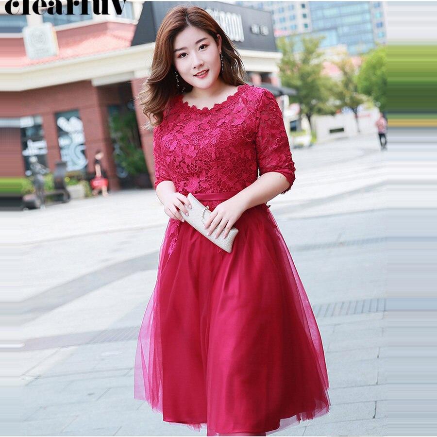 Prom Dress Half-sleeve Vestidos De Gala 2019 Lace Up Plus ...