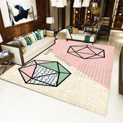 Różowe skandynawskie geometryczne dywan dywan dla dzieci do pokoju mata do jogi podłoga dywan do sypialni dziewczyna dywan pokojowy w Dywany od Dom i ogród na