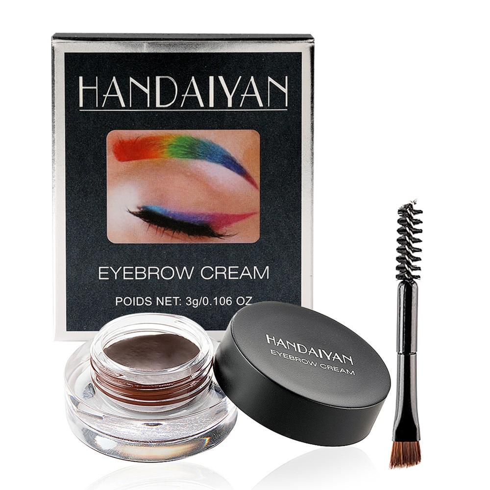 12 couleurs sourcil teinte maquillage étanche sourcil pommade Gel rehausseur cosmétique yeux maquillage yeux sourcils crème avec brosse professionnelle