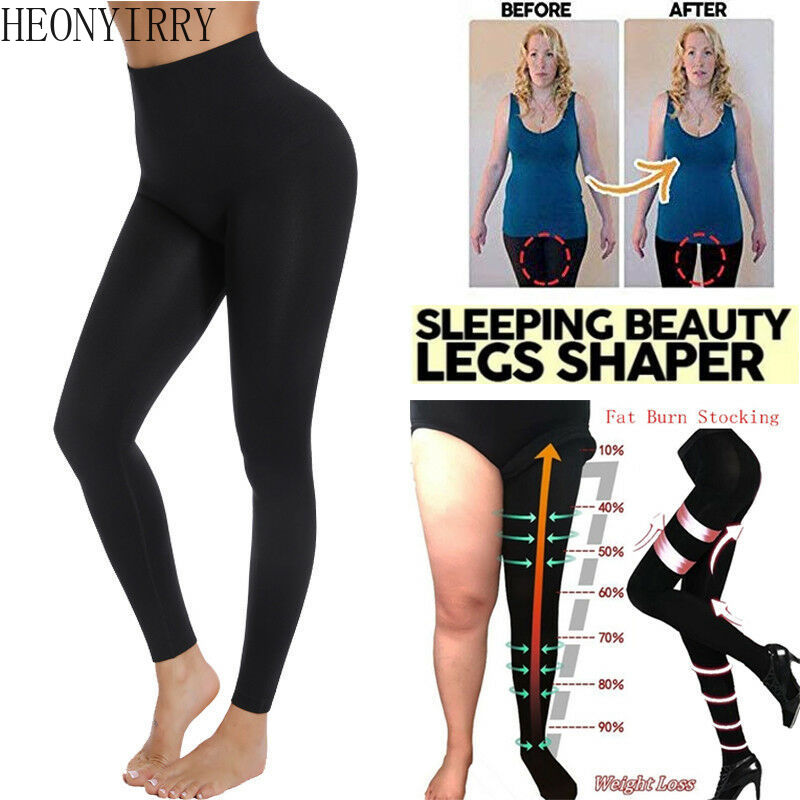 Super Pantyhose Compression Stocking For Women Fat Burn Slimming Anti Cellulite Tights Control Leg Shaper Weight Loss Stockings