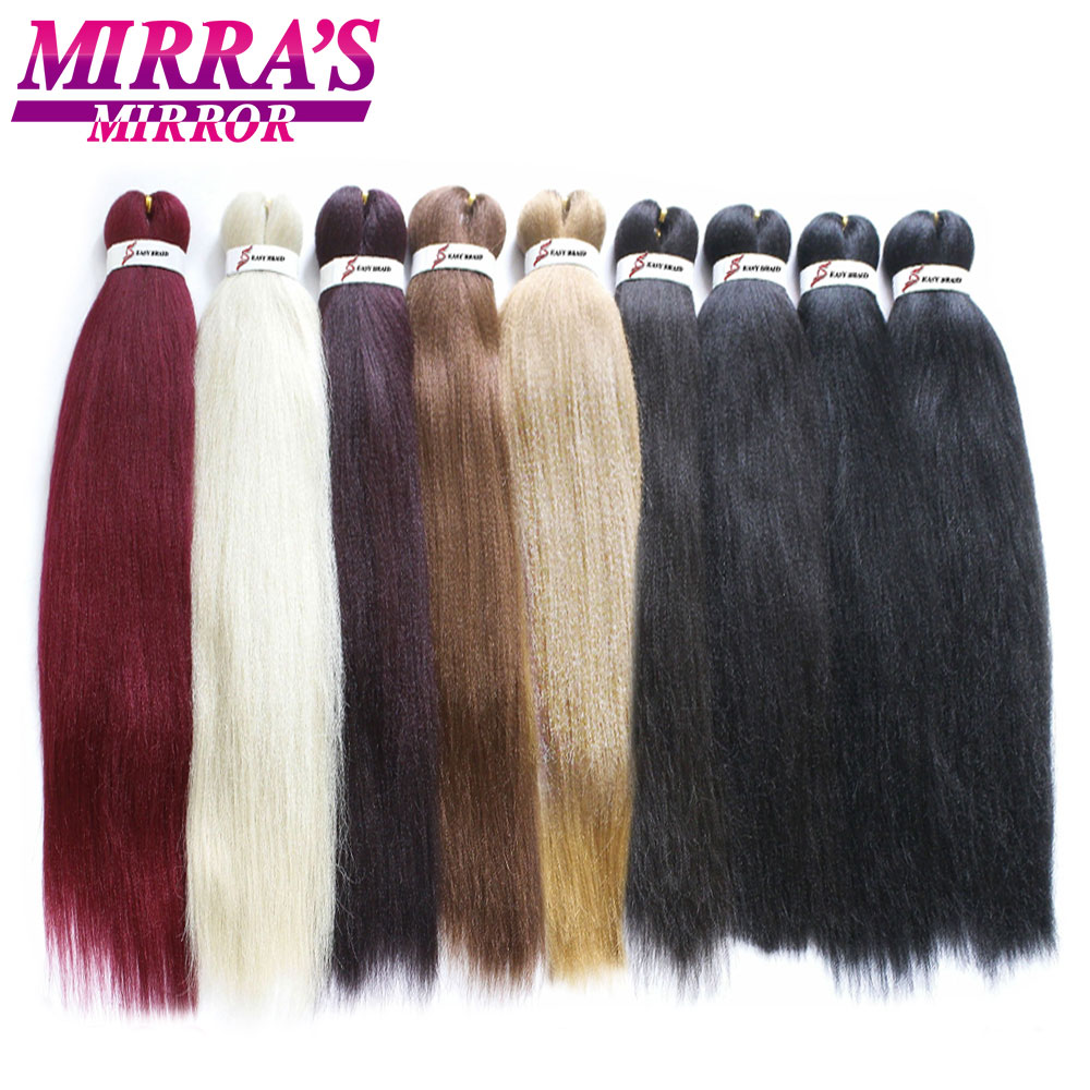 Mirra's Mirror Easy Pre-Stretched Jumbo Braids Hair Ombre Braiding Hair Extensions Synthetic Crochet Hair