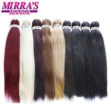 Mirras Mirror extensiones de cabello trenzado con degradado, trenzas Jumbo preestiradas, pelo sintético de ganchillo