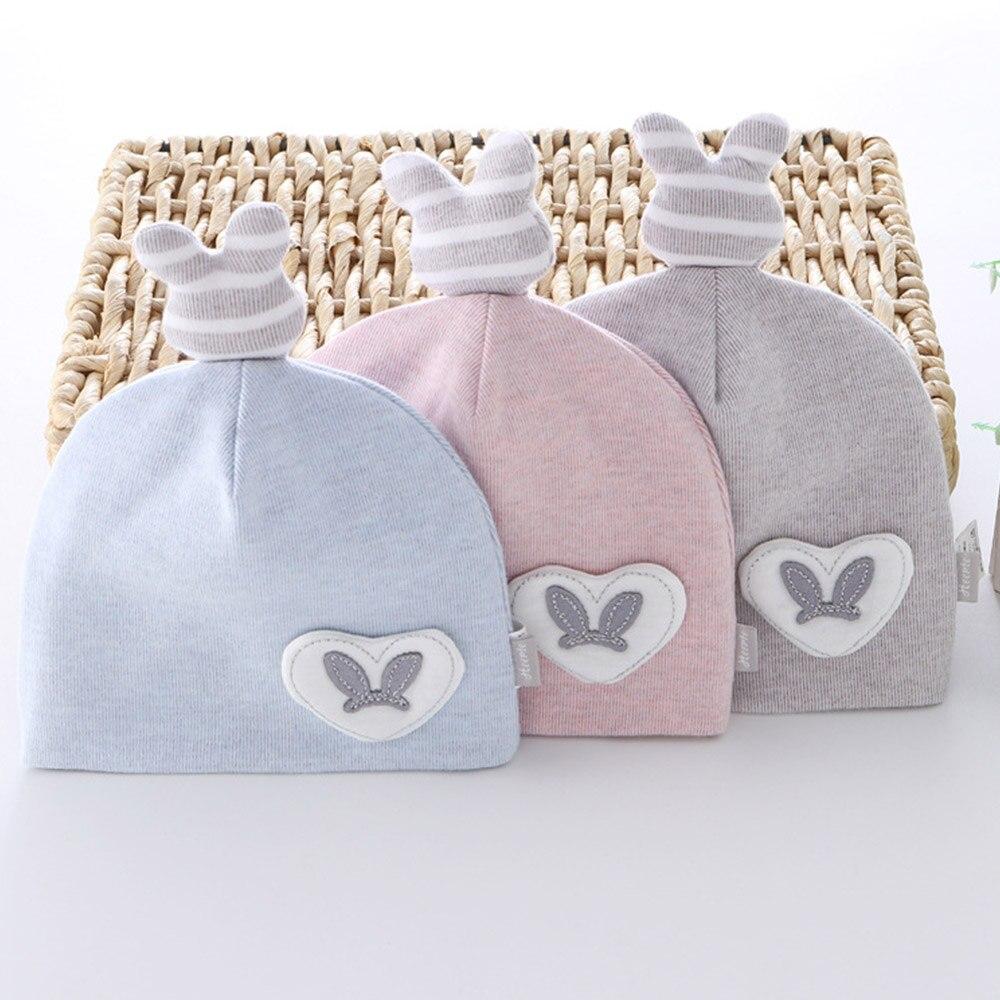 High Quality Cotton Newborn Hat Cartoon Cute Boy Girl Baby Bonnet 0-3 Months New Born Cap Baby Girl Hats