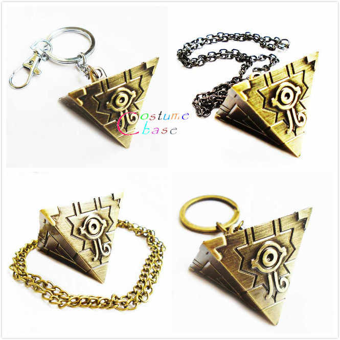 Duel Monsters Cosplay Necklace Lovely Yu Gi Oh Yugioh Millenium Mans Pendant Jewelry Keychain Keyring Key Holder