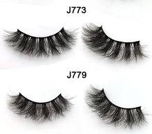5 pairs 5D silk eyelashes handmade full strip lashes thick false makeup eye 5d wholesale