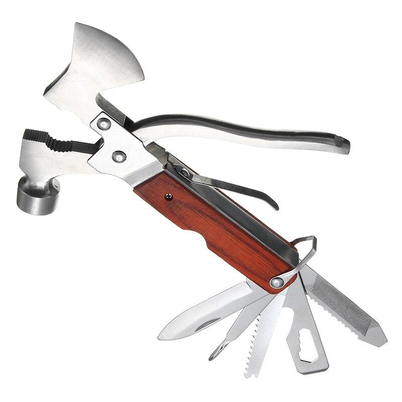 Multifunction Hammer Axe Opener Knife Sawtooth Screwdriver Pliers Tool Kit Emergency Survival Hatchet EDC Tools