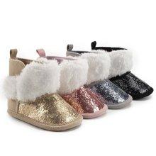 Зимние новые детские теплые блестящие ботинки Вельветовая одежда