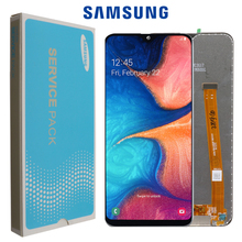 """5.8 """"Originele Amoled Voor Samsung Galaxy A20e Lcd SM A202F/Ds A202 A202DS Met Frame Touch Screen Digitizer Vergadering + Service Pack"""