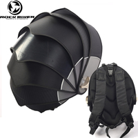 ROCK BIKER Fashion Cool Motorcycle Backpack Helmet Bags Men Shoulder Riding Knight Locomotive Pangolin Tail Bags Waterproof Bag