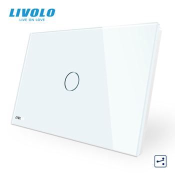 LIVOLO US C9 Standard Touch Screen Wall Light Switch,2 Ways Cross Through Control,Crystal Glass Panel,Up Donw Stair - discount item  29% OFF Electrical Equipment & Supplies