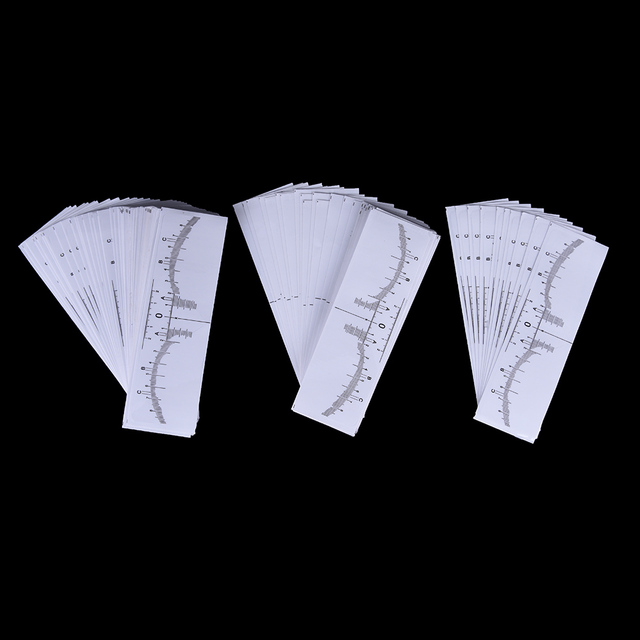 10Pcs Disposable Eyebrows Ruler Stickers Accurate Ruler Permanent Makeup Eyebrow Shaping Tools Tattoo Measurement Rulers Sticker 3
