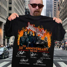 Judas Priest 50-летие-черная футболка новая забавная футболка