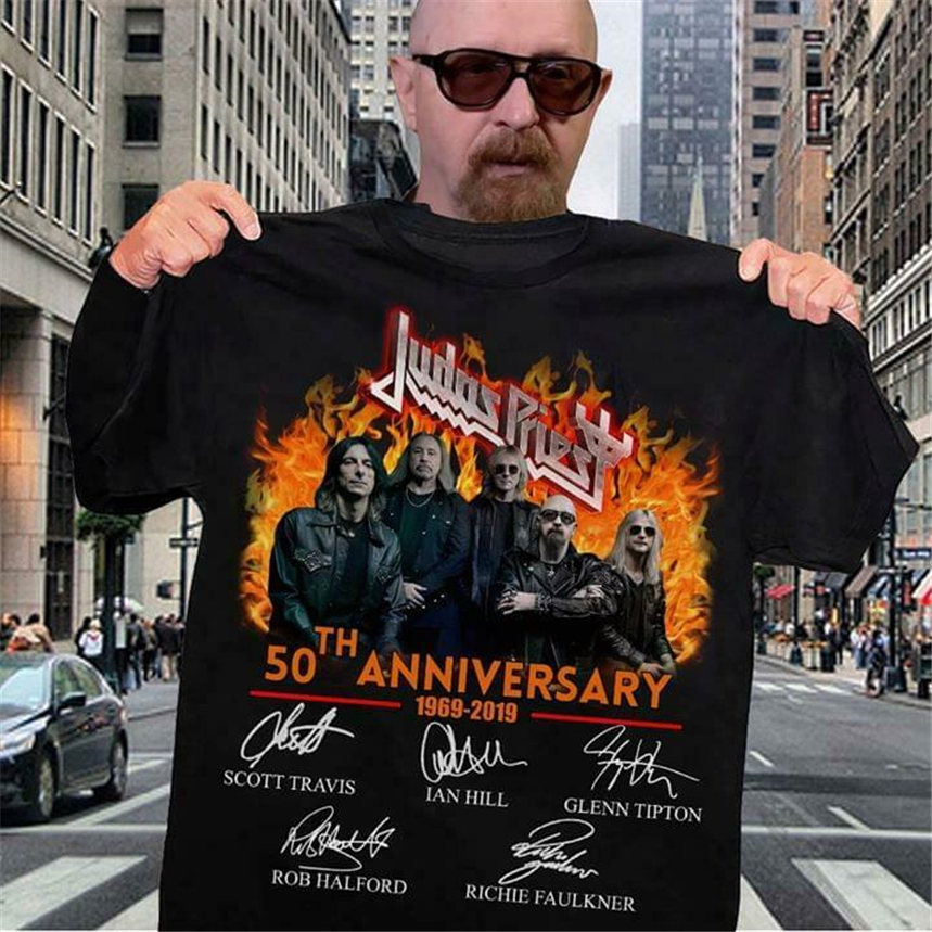 Judas Priest 50Th Anniversary - Black T-Shirt New Funny Tee Shirt