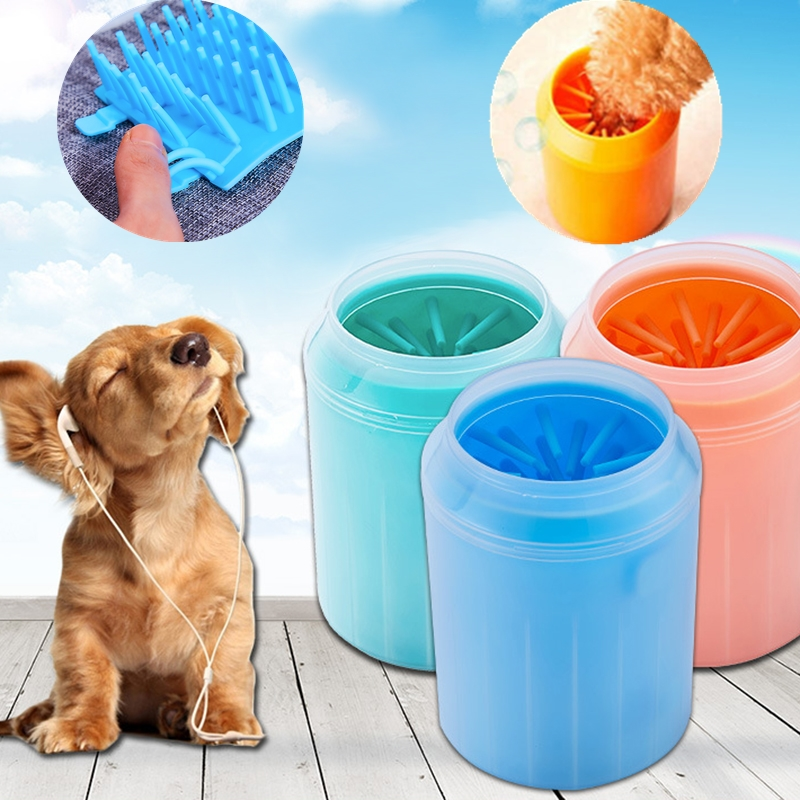 New <font><b>Dog</b></font> <font><b>Paw</b></font> <font><b>Cleaner</b></font> Cup Pet Feet Washer Portable Pet Cat Quickly Wash Dirty <font><b>Paw</b></font> Clean Brush Soft Silicone Combs Foot Wash Tool image