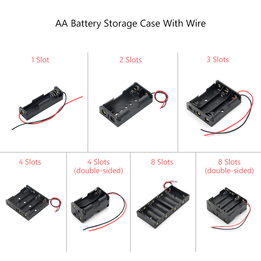Battery-Case-Box Container Bateria-Protection Lead-Wire New LR6 AA with HR6 1-2-3-4-8-Slots